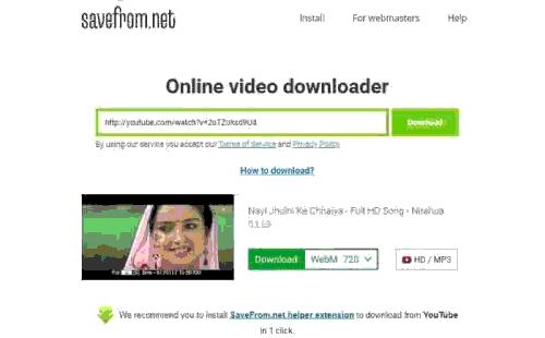यूटूब से विडियो डाउनलोड