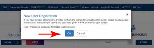 activate SBI internet banking