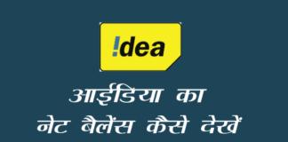 Idea का net balance