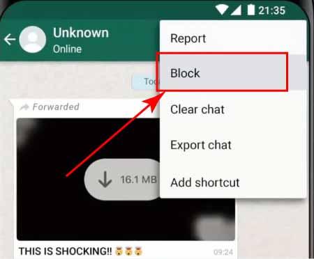 WhatsApp Number Blocked