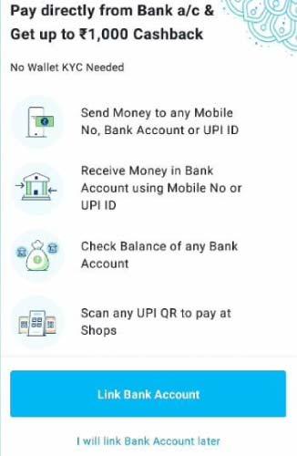 paytm bank account